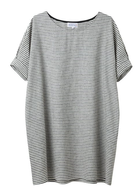 A striped t-shirt dress like this is a great option for your day to day. As cute as it is easy, it also rolls up easily into your travel bag without wrinkling.  Bamboo by United Bamboo Striped Baggy Dress ($368)