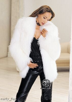 White Lamb Fur Coat ($450)