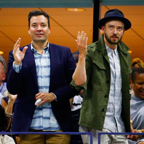 Justin Timberlake and Jimmy Fallon at the US Open 2015