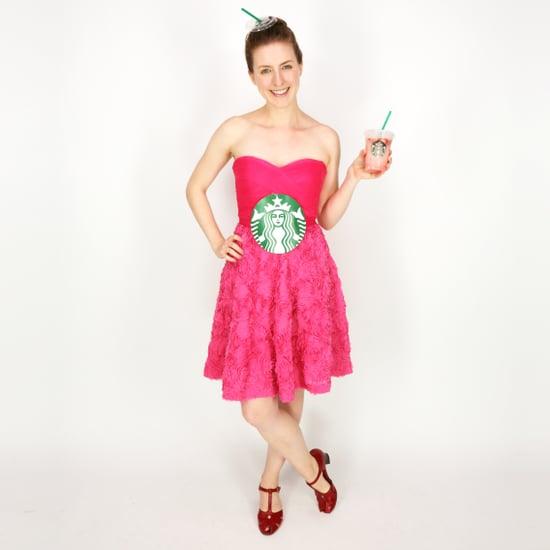 Easy Starbucks Pink Drink DIY Costume