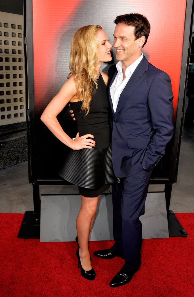 Anna Paquin and Stephen Moyer stayed close while on the red carpet at the premiere of True Blood's season six in LA in June 2013.