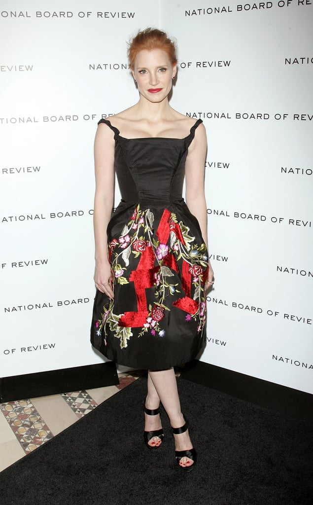 Jessica Chastain's dress featured beautiful embroidery.