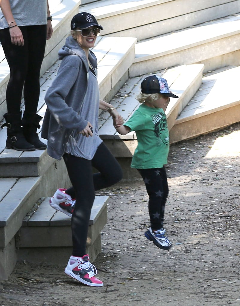 Gwen Stefani went hiking with her boys.