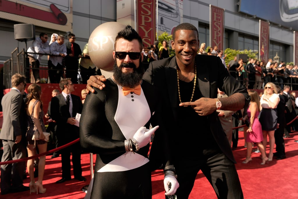 Brain Wilson and Amar'e Stoudemire looked happy to see each other.