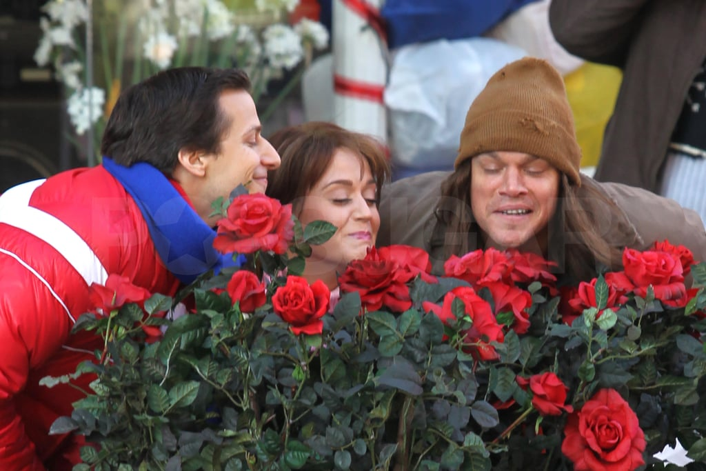 Matt Damon, Katy Perry, and Andy Samberg stopped to smell the roses.