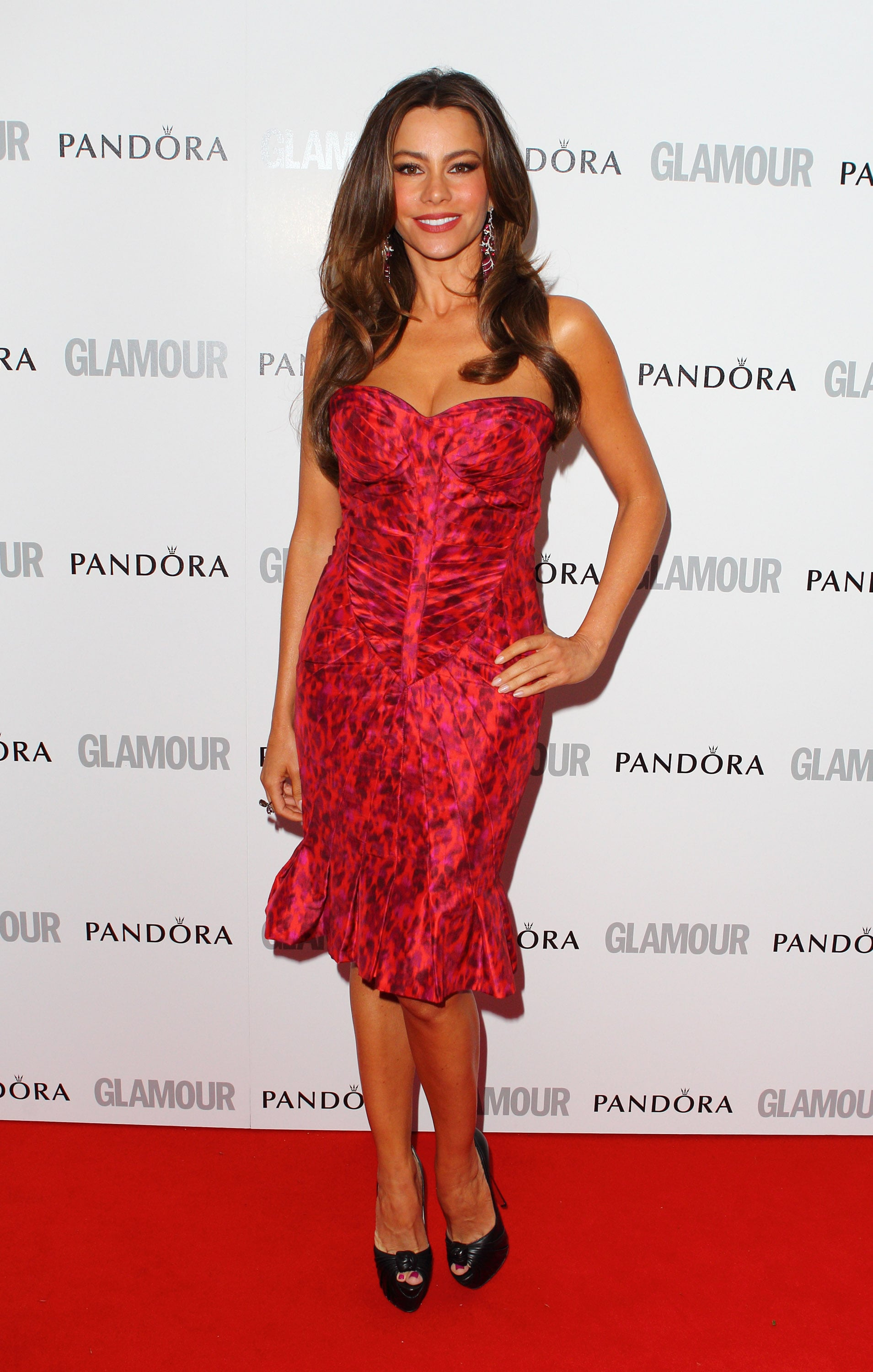 Vergara fired up the red carpet in a strapless Zac Posen fit-and-flare for the Glamour Women of the Year Awards in May 2012.