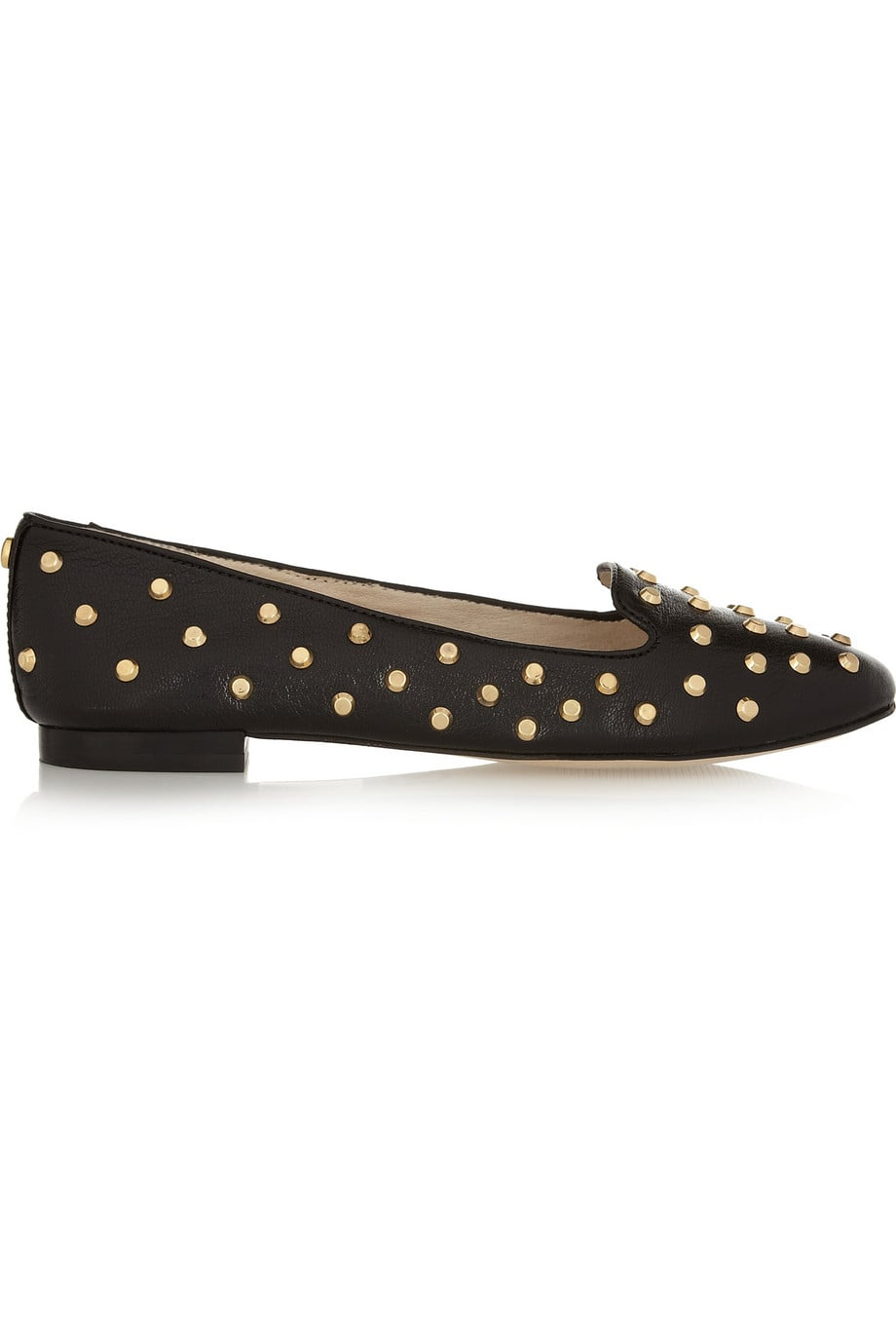 Michael Kors Ailee Studded Glossed-Leather Slippers ($99, originally $165)