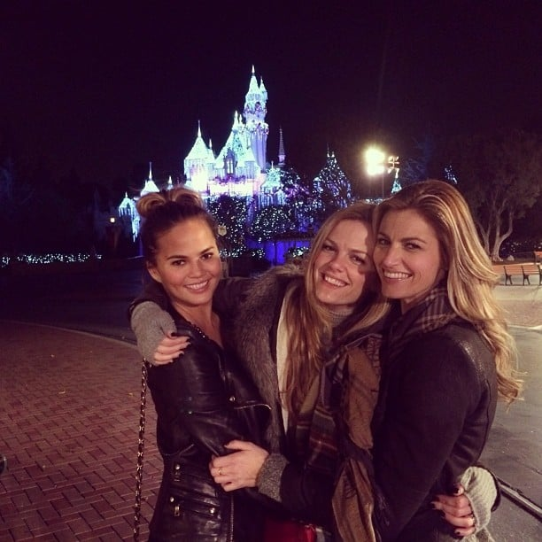 Chrissy Teigen squeezed in a little time at the Happiest Place on Earth with her friends. Source: Instagram user chrissyteigen