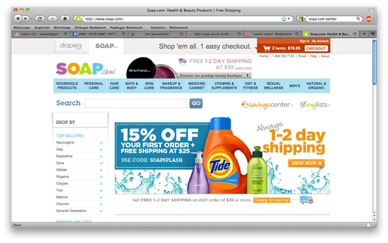 Soap.Com Shopping Review