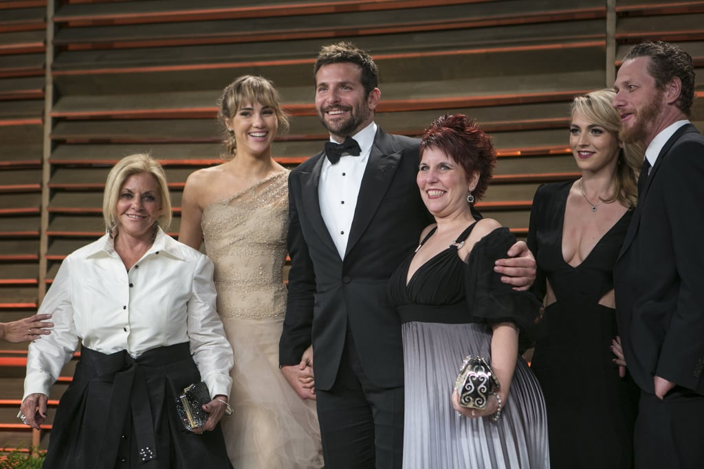 Bradley Cooper and Suki Waterhouse were joined by Bradley's family at the Vanity Fair Oscars bash.