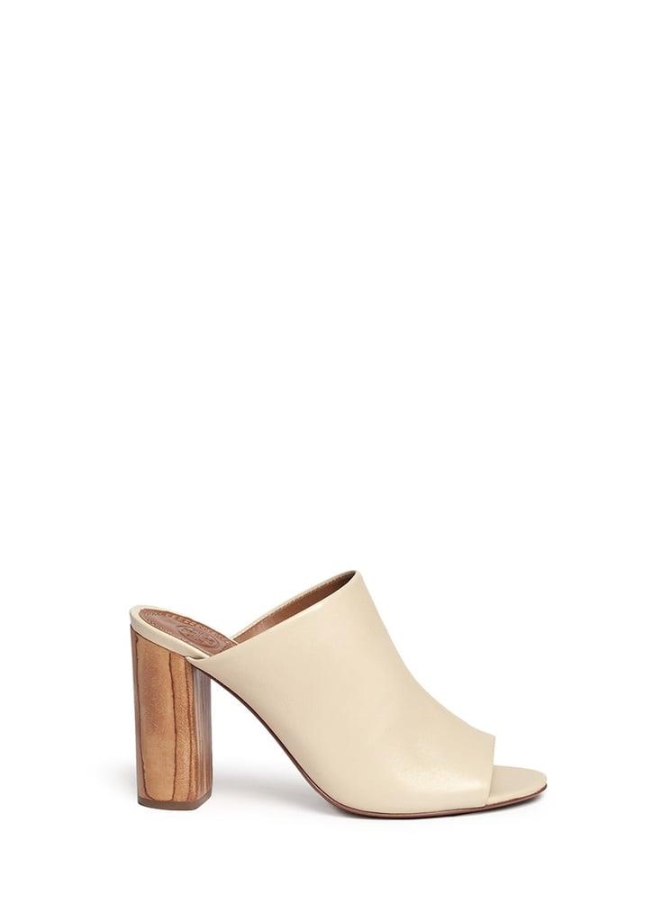 Tory Burch Raya Leather Mules ($350)