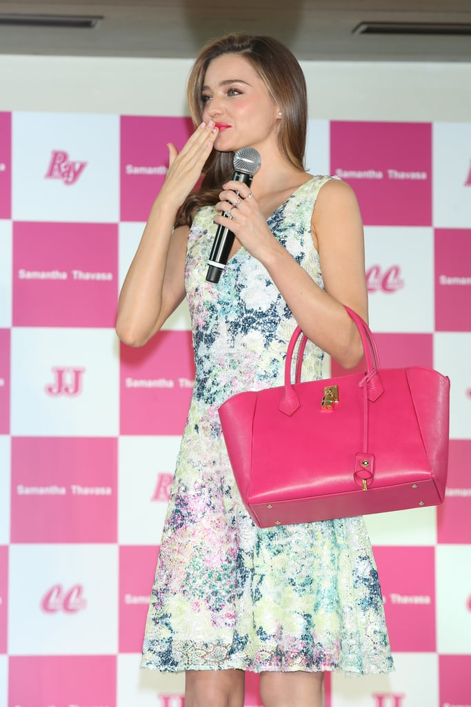 Miranda Kerr attended a special event as part of the Samantha Thavasa Ladies Tournament in Japan on Friday.
