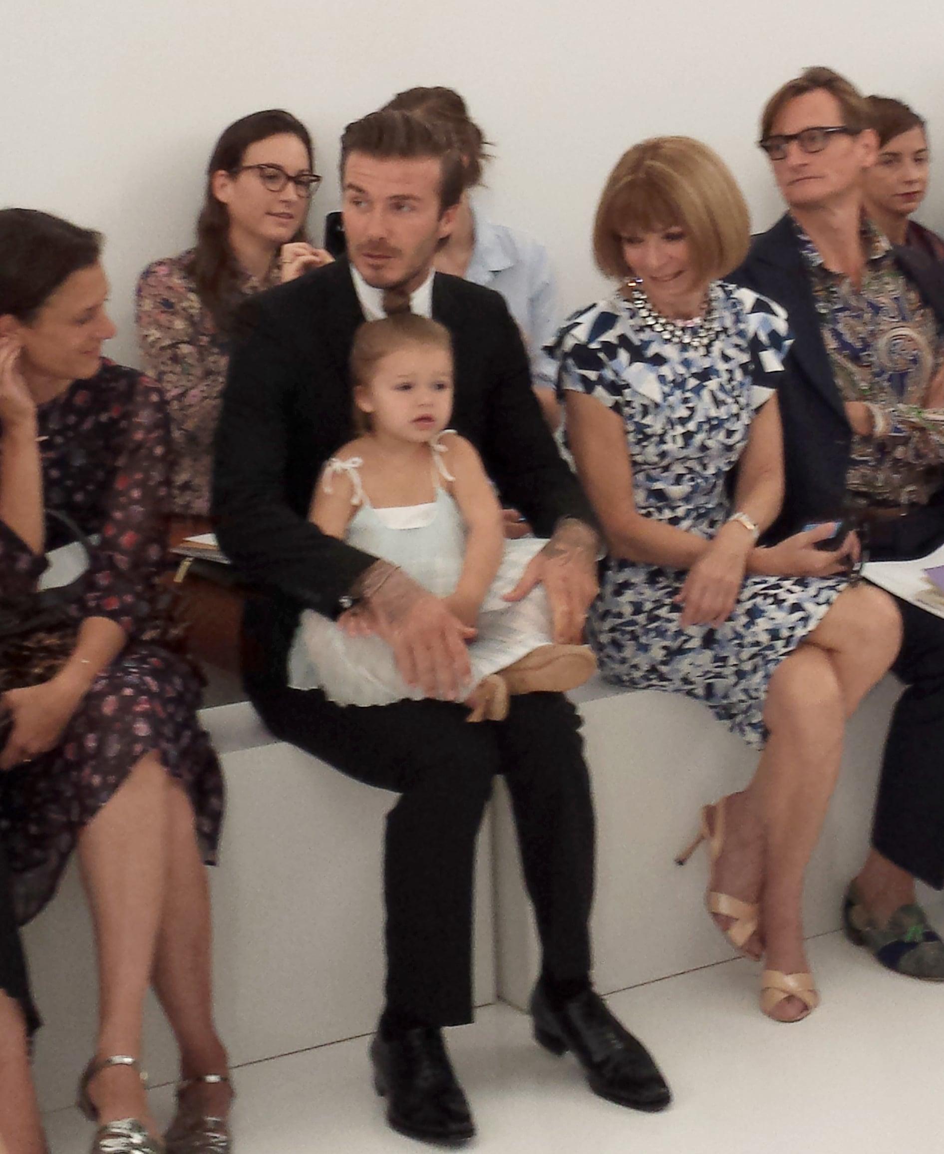 David Beckham and Harper Beckham