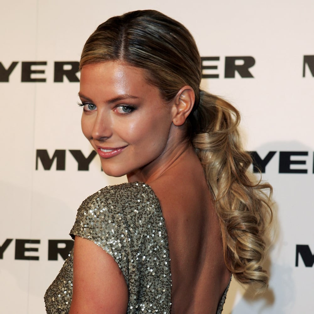 Business at the front, party at the back — Jen mixed things up in 2007 at the Myer Spring/Summer Collection Launch.