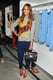 Jessica Alba showed off a playful look from the Phillip Lim for Target collection at the launch party during New York Fashion Week.