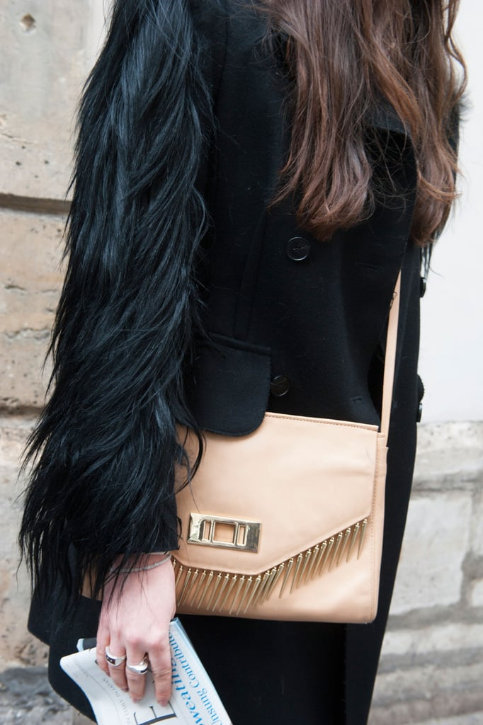 This classic bag got an edgy update with high-impact fringe.