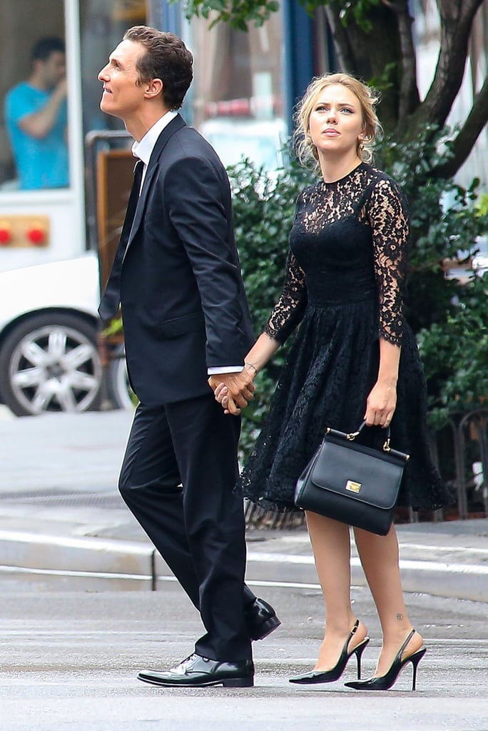 Scarlett Johansson and Matthew McConaughey filmed a commercial in NYC.