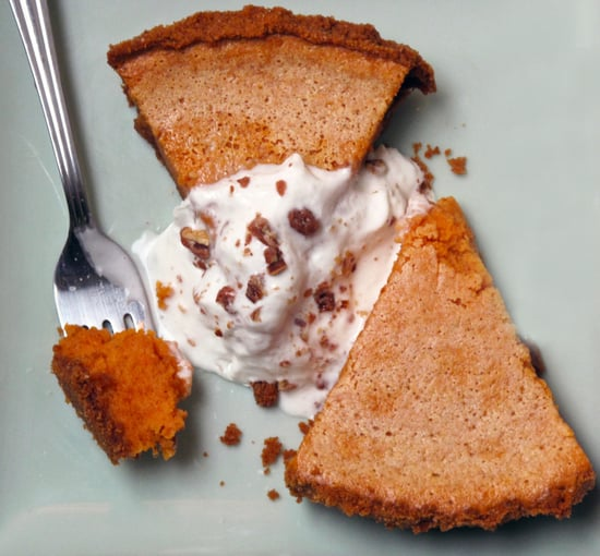 Sweet Potato Pie With Candied-Nut Cream