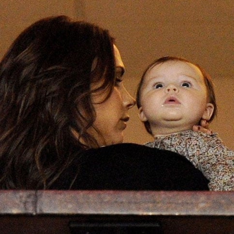 Harper Beckham Pictures With David, Victoria at Galaxy Game