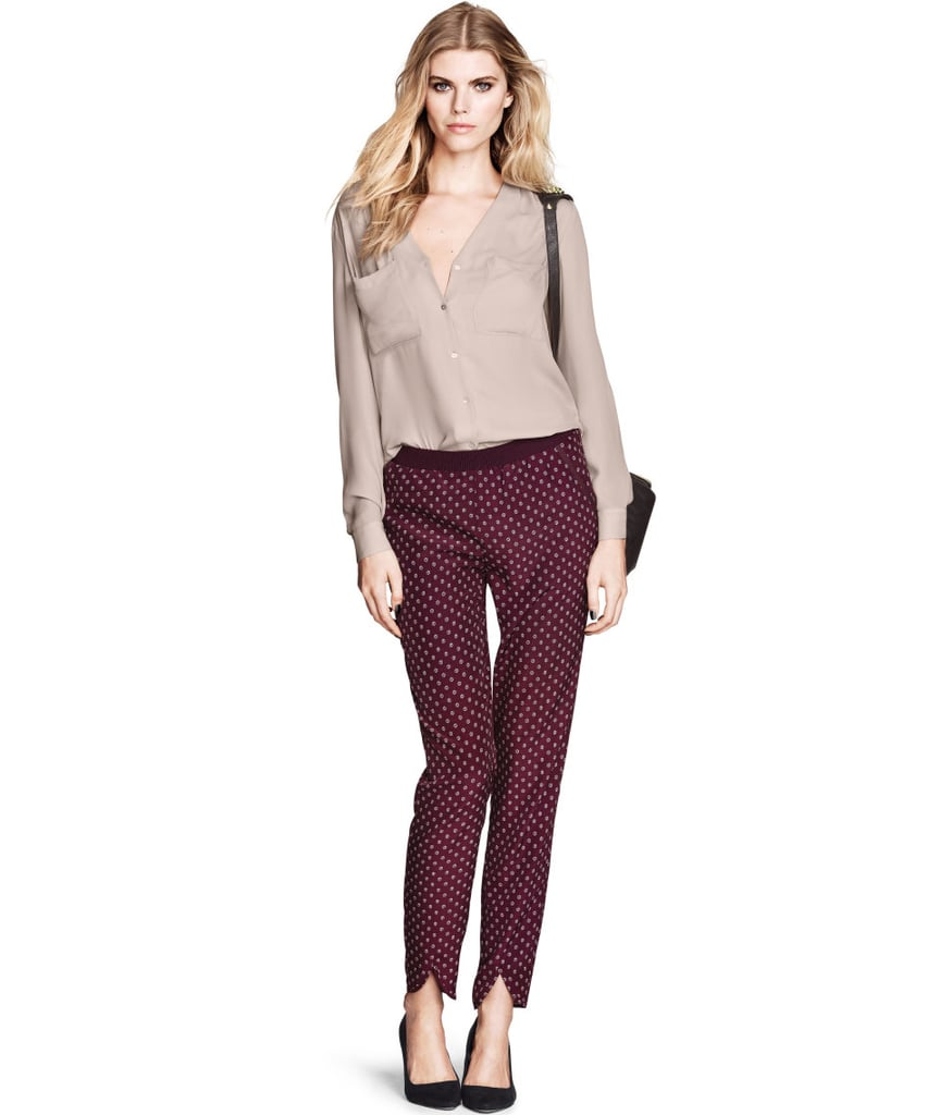 We've been loving slouchy, printed pants with a PJ-feel for awhile now. And behold, another pair ($25) to add to our collection!