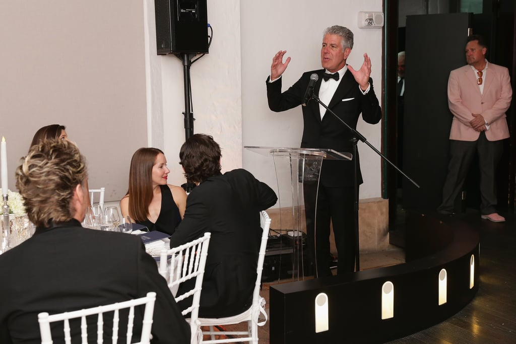 Anthony Bourdain Gives a Speech