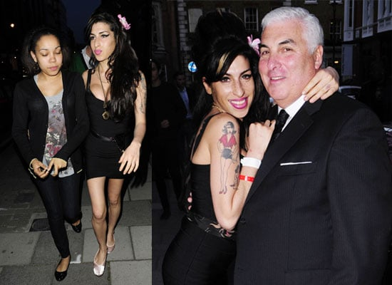 Photos of Amy Winehouse With Mitch Winehouse and Dionne Bromfield in London After Amy Was Hospitalised Following Fall