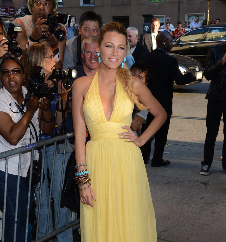 Blake Lively Steals The Show in Yellow Gucci
