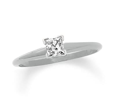 This Zales princess-cut diamond solitaire ring ($449) is economically friendly and hits all the right notes for the girl who loves a striking, albeit simple, silhouette.
