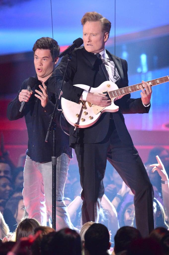 Conan and Adam DeVine's Impromptu (and Underwhelming) Musical Number