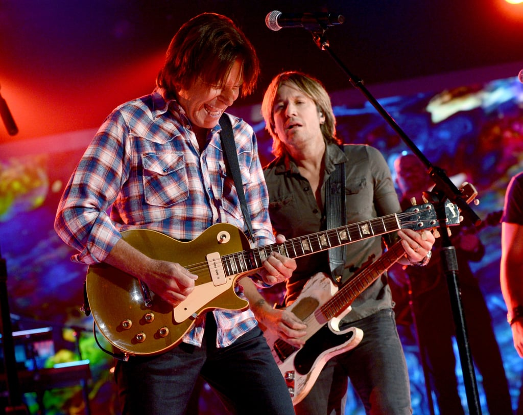Keith Urban performed with John Fogerty.