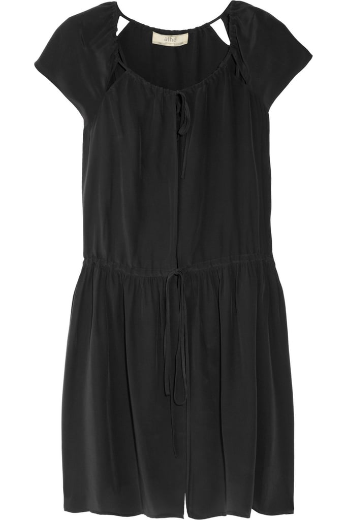 Summer-Ready LBD It's time to trade in your cold-weather LBD for something cute, feminine, and totally versatile. This silky little black dress fits the bill, and we love the neckline cutouts, too. Vanessa Bruno Athé Brushed-Silk Dress ($154, originally $440)
