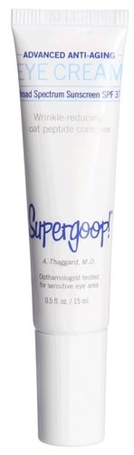 Supergoop - Advanced SPF 37 Antioxidant-Infused Anti-Aging Eye Cream with Oat Peptide (N/A) - Beauty