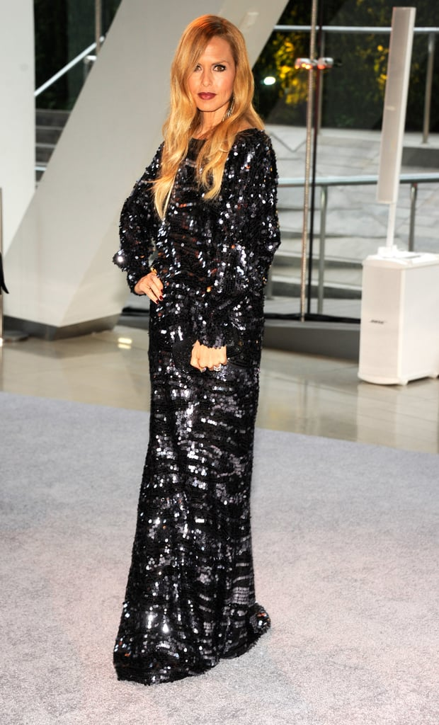 Rachel Zoe sparkled in a black sequined dress that she (of course!) designed for herself.