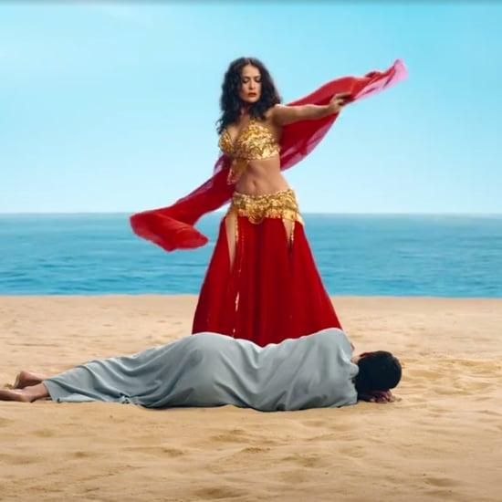 Salma Hayek Belly-Dancing Video
