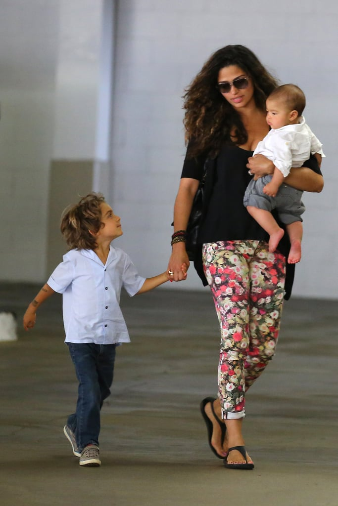 Camila Alves Spends Time With Her Sons and Makes a Pet Shop Stop
