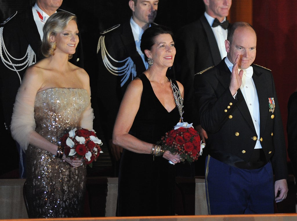 Princess Charlene, Princess Caroline of Hanover, and Prince Albert II of Monaco attended the Monaco National Day Gala concert in November 2010. Source: Getty / Pascal Le Segretain