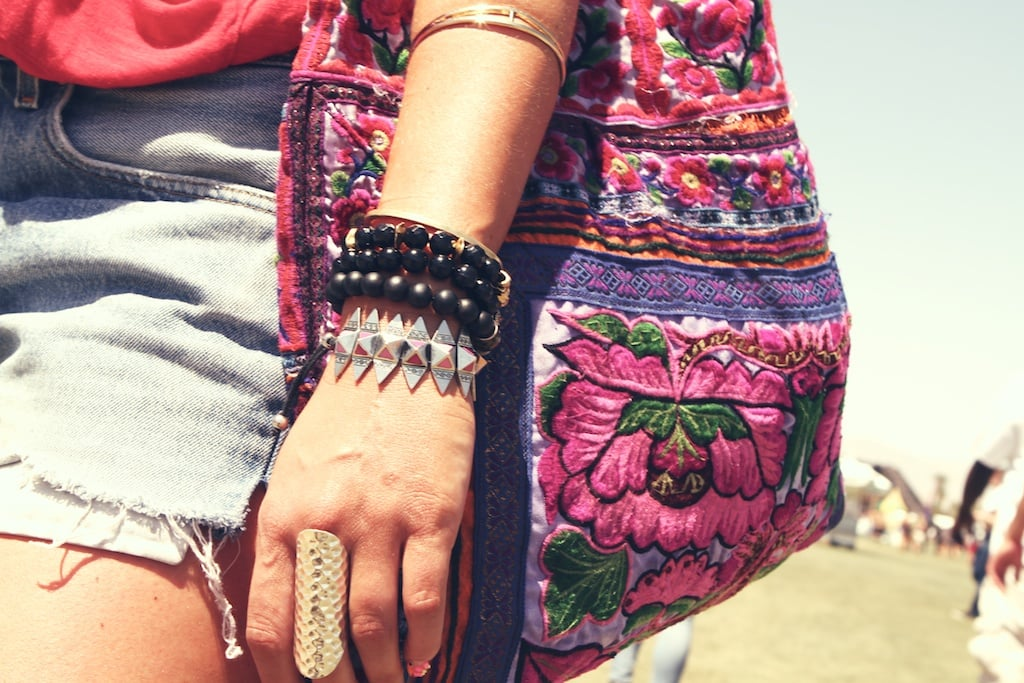 We love this mashup of tough and tribal jewels.