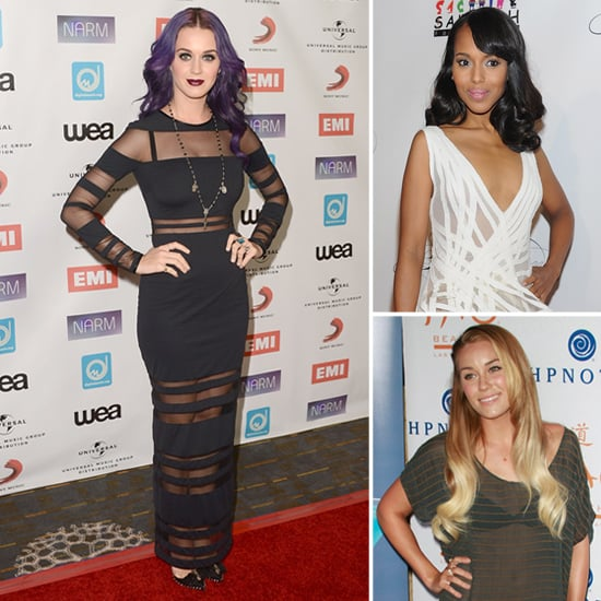 Celebs in Sheer Stripes — 13 Stars Work the Classic-Turned-Bold Trend