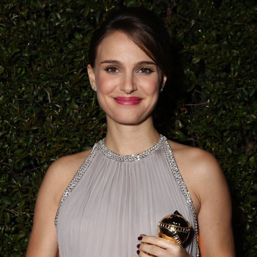 Natalie Portman clutched her statue at the Fox Golden Globes after-party in 2011.