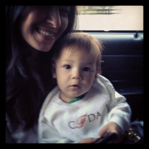 Rebecca Minkoff's son, Luca, sported a chic CFDA bib. Source: Instagram user rebeccaminkoff