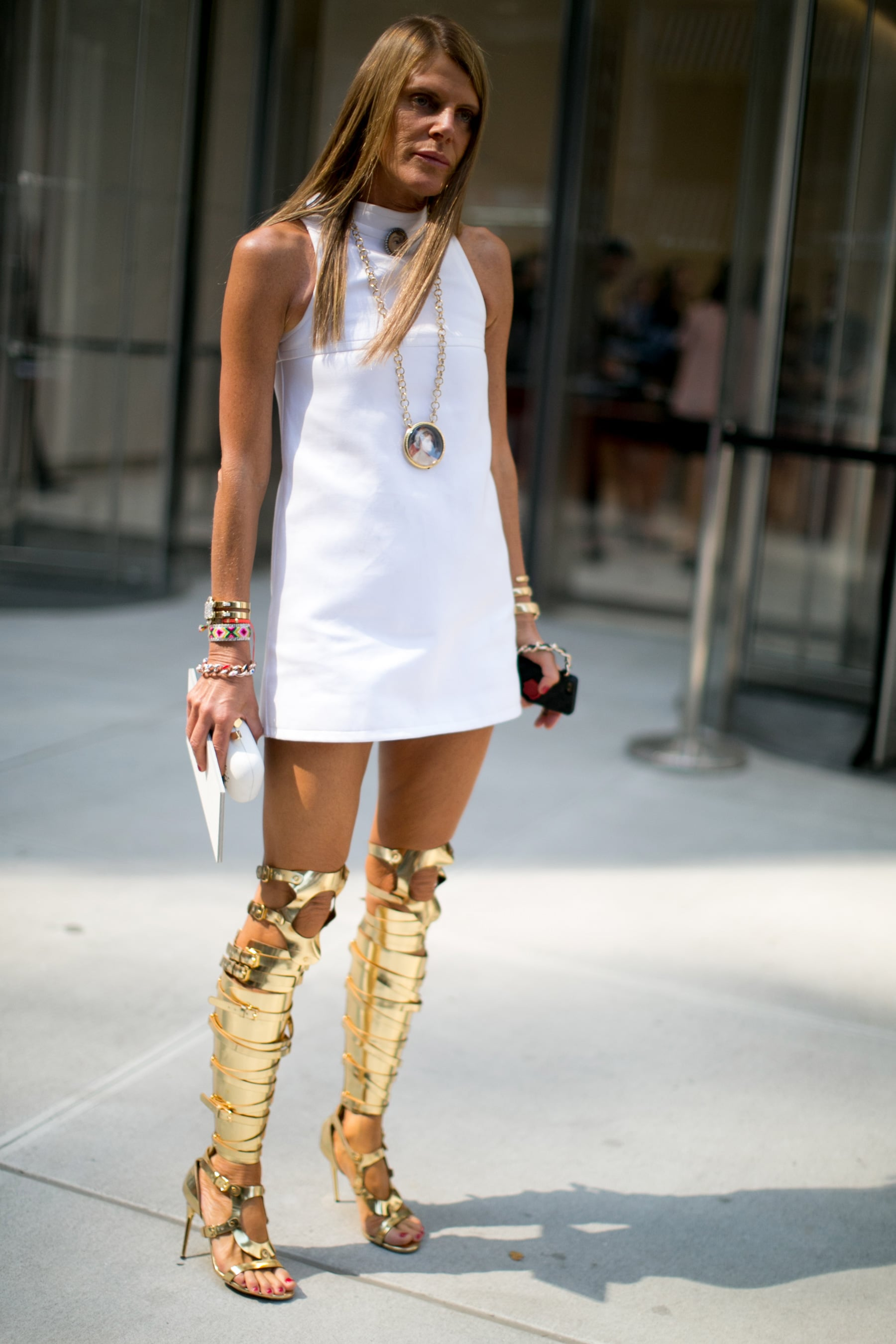 Anna Dello Russo S Lwd May Have Been Demure But Those Tom