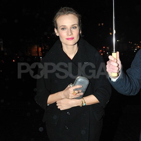 Diane Kruger arrived at a fashion show afterparty in Paris.