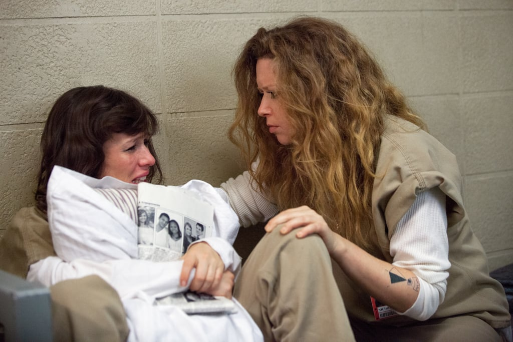 Nicky (Natasha Lyonne) comforts Morello (Yael Stone). Source: Netflix