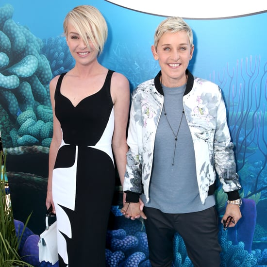 Ellen DeGeneres and Portia de Rossi at Finding Dory Premiere
