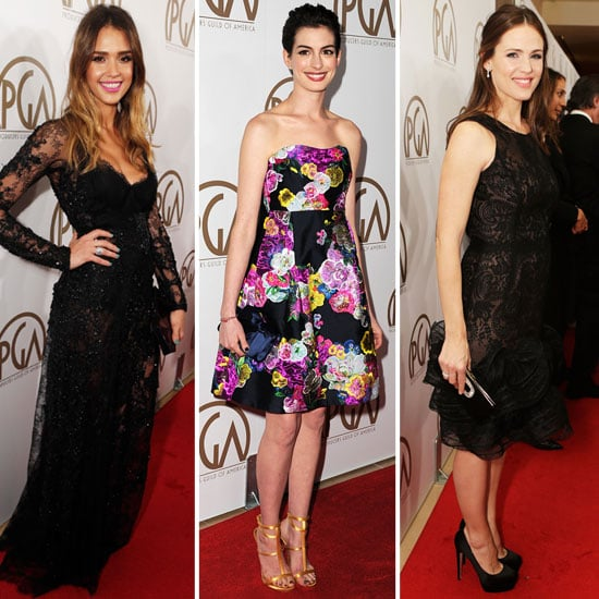 Jessica Alba and Jennifer Garner at Producers Guild Awards