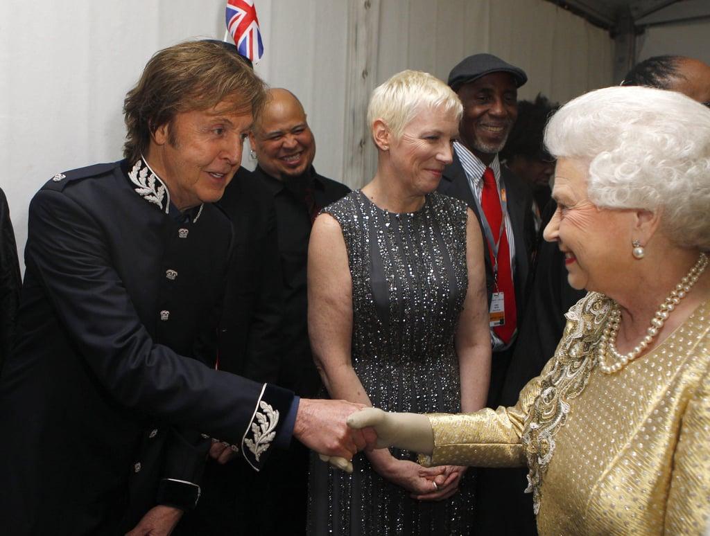 Paul McCartney was given the opportunity to meet Queen Elizabeth II at the Diamond Jubilee Concert in London in June 2012.