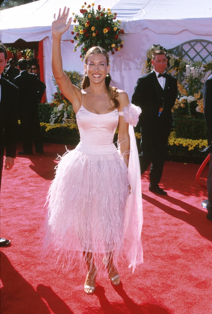Who could forget the frothy feathered Oscar de la Renta creation SJP donned for the 2000 Emmy Awards?