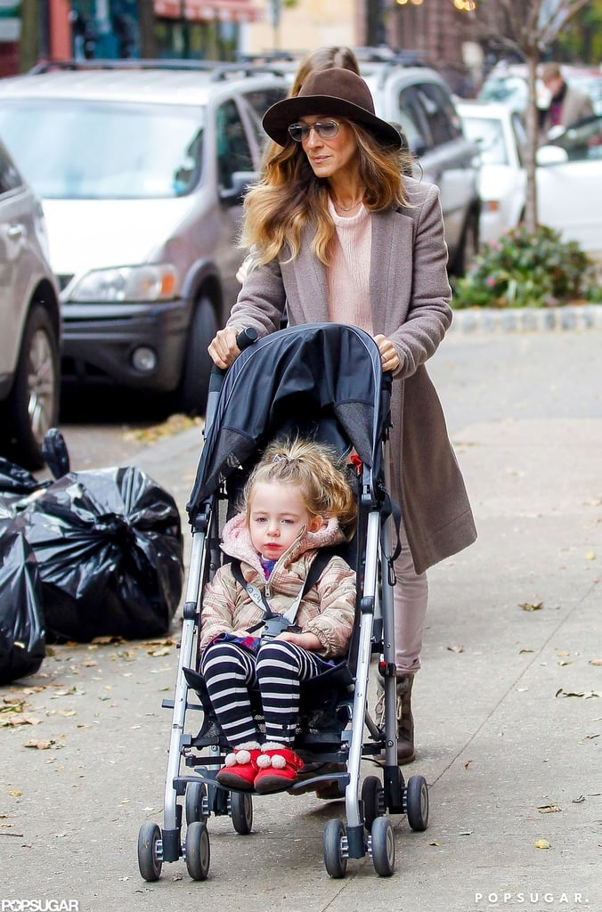 Sarah Jessica Parker walked with Tabitha Broderick.