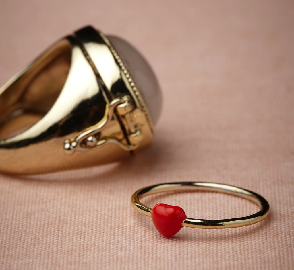 A quirky heart-shaped ring from Les Néréides ($200) for the girl who likes to keep her jewelry pieces playful.