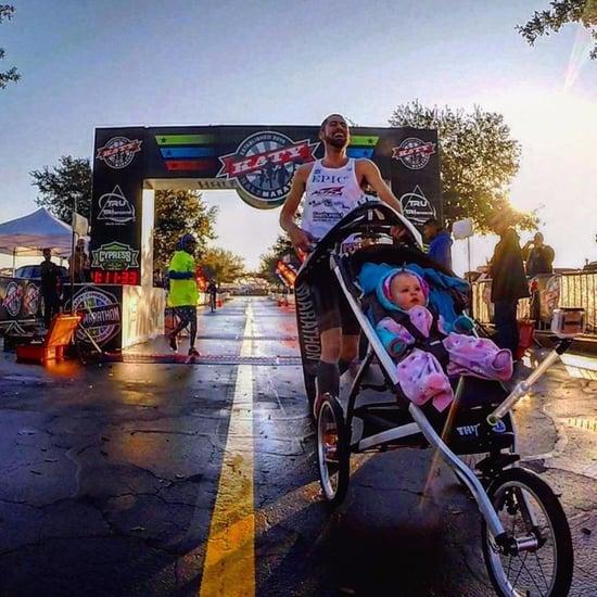 Dad Runs a Marathon Pushing His Daughter's Stroller